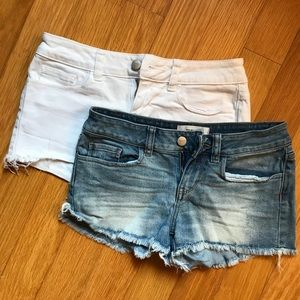 Bundle of 2 PINK Cut Off Denim Shorts